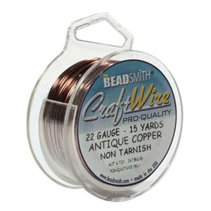 Enchanting beads beadsmith craft wire antique copper 22 gauge for 22 gauge craft wire