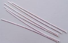 "25 Sterling Silver Bali Ball Head pins  23 gauge Headpins 2/"""