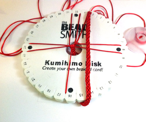 Kumihimo Braid - Red Satin